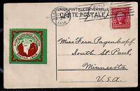 1908 Alaska-Yukon-Pacific Expo Label w/ Expo Machine Slogan on Nagasaki Postcard