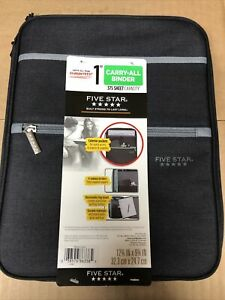 Five Star 1 Inch Carry-All Binder With Exterior Pockets Brand New