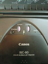 Vtg CANON BJC-80 Mobile Portable Desktop Color Bubble Ink Jet Printer UNTested