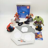 PS3 Disney Infinity 2.0 Marvel Game Portal Spiderman Hulk Nova Figure Lot 3.0