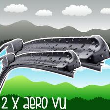 "Fiat Panda 169 1.2 23/16"" Aero VU Front Retro Wiper Blades Windscreen Flat"