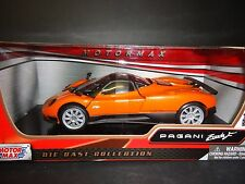Motormax Pagani Zonda F Orange with silver wheels 1/24