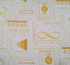 Super Foods Studio 8 Quilting Treasures BTY Healthy Eating Pyramid Diet Yellow