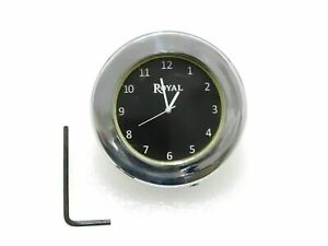 New Royal Enfield Black Dial Brass Chrome Stem Nut Clock Watch