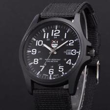 Fashion Mens Date Military Sports Stainless Steel Quartz Army Wrist Watch Lot