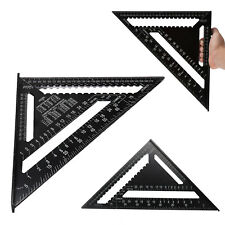 "12"" Ruler Metric Aluminum Alloy Speed Square Roofing Triangle Measuring Tool"