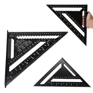 """12"""" Ruler Metric Aluminum Alloy Speed Square Roofing Triangle Measuring Tool"""