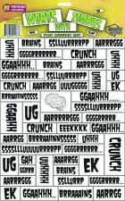 Words with Zombies Refigriator Flat Magnet Set Walking Dead Previews Exclusive