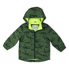 New Carters Green Dinosaur Print Water Resistant Raincoat Jacket 7