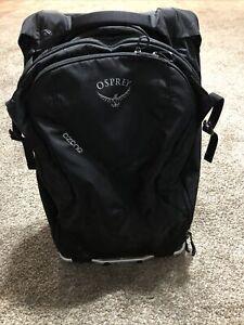"""Osprey High Road LT Ozone 28"""" Black Wheeled Luggage"""