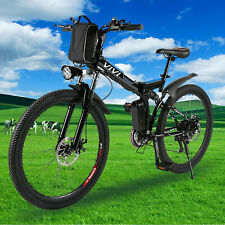 26'' Electric Bike Folding Mountain Bicycle E-bike New 21Speed 36V Li-Battery