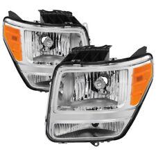 Per Dodge 07-11 Nitro Cromo Alloggiamento Ricambio Fari ATX Mtx R/T Slt Sxt