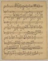 MUSIK Handschrift Original Notenblatt um 1800 Romanze SIBYLLE Noten Komposition