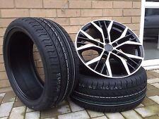 """4 X 18"""" SANTIAGO GTI GTD STYLE BLACK/POL ALLOY WHEELS VW GOLF MK 5 6 7"""