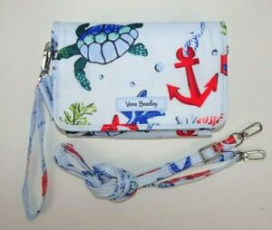 Vera Bradley Lighten Up RFID 3-in-1 Crossbody ANCHORS AWEIGH Wristlet Wallet
