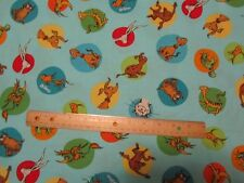 Blue Dr Seuss Which Pet Should I Get Circles Toss Cotton Fabric by the Yard