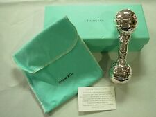 ADORABLE TIFFANY & CO STANDING TEDDY BEAR STERLING SILVER BAR BELL BABY RATTLE