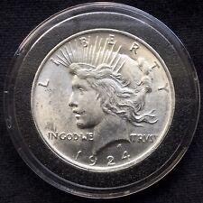 1924-P U.S. Silver Peace Dollar in Airtite Case