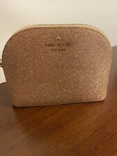 Kate Spade Mini Glittered Cosmetic Bag Brand New With Tag Rose Gold Color