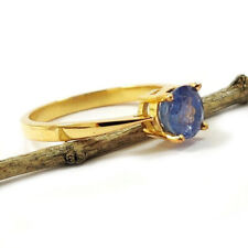 NATURAL GEMSTONE 14 KT SOLID YELLOW GOLD HANDMADE RING JEWELRY CHRISTMAS DIWALI