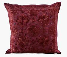 "Indian Cotton Handmade Square Sofa Cushion Cover Throw 16X16"" Mirror Work Pillow"