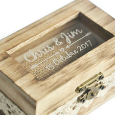 Personalised Wedding Ring Box Rustic Ring Box Wedding Engagement Ring Holder
