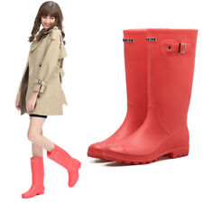 Girls Rain Boots Ladies Kids Wellington Boots Rubber Rain Wellies Size UK 13-5