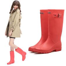 Women's Rain Boots Anti-Slip Waterproof Wellies Heeled Wellington Boots Shoes