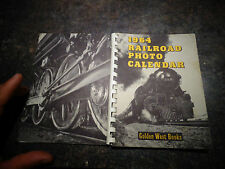 1964 Railroad Photo Calendar Agenda Calendrier US Train Locomotive Chemin de Fer