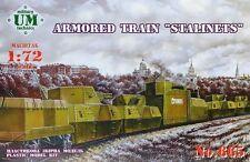 "ARMORED TRAIN NO1 ""KRASNOYAREC""OR NO2 ""YENISEI"" 1/72 UNIMODEL UMT 647"