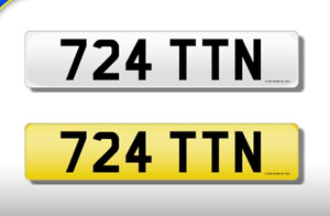 724 TTN CHERISHED NUMBER PERSONAL PLATE