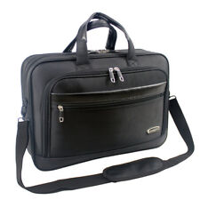 Mens Black Laptop Bag Briefcase Work Office Shoulder Bag High Quality 8208
