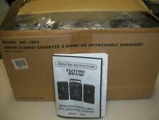 NEW Vintage ELECTRO BRAND Micro Hi-Fi Mini Stereo  System W/2 Speakers #1779