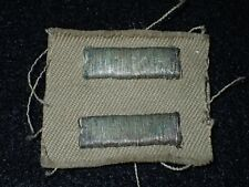 WWII US Army USAAF WAC WAAC Officers' Overseas Bars 1 Year Bullion Silver - RARE