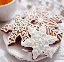 Aus Seller..CHRISTMAS - SNOWFLAKE Cookies Biscuit Cutter Mould ..3 PIECE SET.new