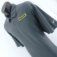 Mens Nike Dri Fit Gray Maxon Athletic Short Sleeve Golf Polo Shirt Size XXL 2XL