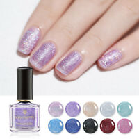 BORN PRETTY Sandy Sugar Nail Polish Gradient Glitter Sequins Nail Art Varnish