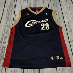 Adidas Lebron James Cleveland Cavaliers CAVS Blue Kids Jersey Size Youth Large