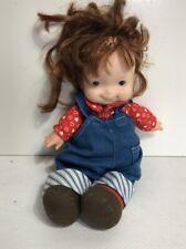 Vintage Fisher Price Toys Vinyl & Plush Doll Stuffed #203 Audrey Lapsitter
