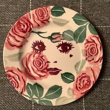 """EMMA BRIDGEWATER Beautiful Roses . Small 6-1/2"""" PLATE . Spongeware"""