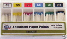 Dental Absorbent Points / Paper Points - #45-80