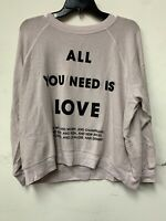 "Wildfox Couture women's""all u need is love violet""sweatshirt hoddie size XS,S ne"
