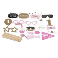 20Pcs Selfie Photo Booth Party Props DIY 1st Birthday Party Glasses Moustache 6A
