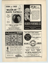 1947 PAPER AD Authenticast Toy All Metal Hand Pained Soldiers Comet Hafner Train