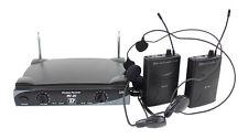 Micros HF 2 serre-tête et 2  lavalier BoomToneDJ VHF20HL