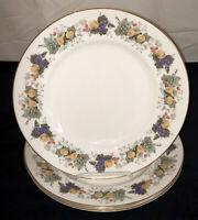 "4 Royal Doulton China* RAVENNA*FRUITS* 10 3/4"" DINNER PLATES* #4977*"