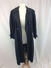 Burberry London taille L bleu long homme en coton gabardine trench coat