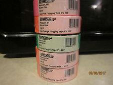 (5) Rolls Johnson 1 in. x 200 ft. 3301 Glo Flagging Tape Pink Orange Lime NEW!
