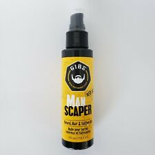 GIBS Guys Into Beard Stuff Man Scaper Beard, Hair, and Tattoo Oil 4 oz New