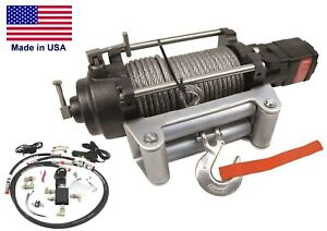Hydraulic Winch for Chevy 1972 to 1987- 12,000 lbs Cap - Waterproof - Reversible